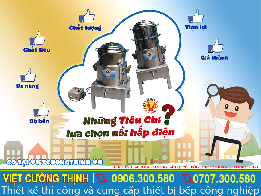 Việt Cường Thịnh - đơn vị cung cấp các sản phẩm Nồi hấp điện, Nồi hấp cách thuỷ, Nồi hấp xôi bằng điện uy tín, chất lượng tại Việt Nam.
