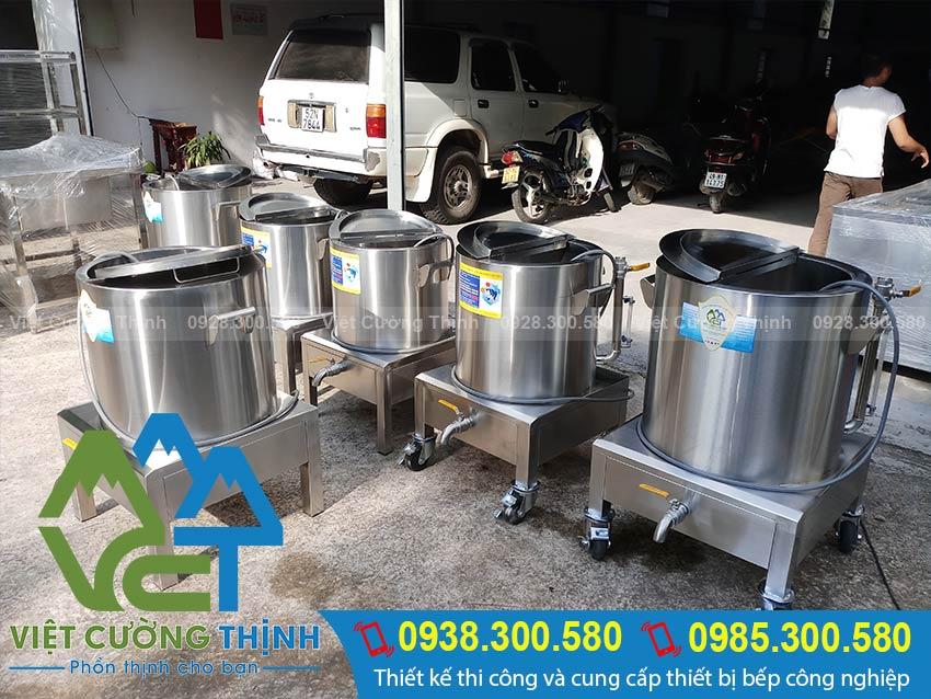 Nồi nấu cháo bằng điện, nồi hầm cháo bằng điện, nồi điện nấu cháo dinh dưỡng cao cấp sản xuất Inox Việt Cường Thịnh.