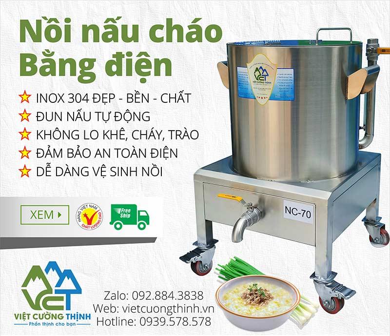 Nồi hầm cháo bằng điện, Nồi nấu cháo dinh dưỡng bằng điện inox 304 cao cấp, không bị ăn mòn trong quá trình sử dụng.