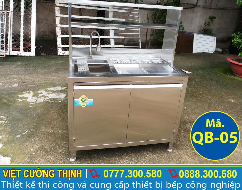 Quầy bar pha chế trà sữa, Quầy bar inox 304, Quầy bar pha chế cafe sản xuất Inox Việt Cường Thịnh.
