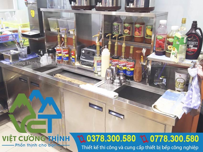 Lắp đặt và thi công quầy bar pha chế inox, thiết bị bar inox tại HCM.