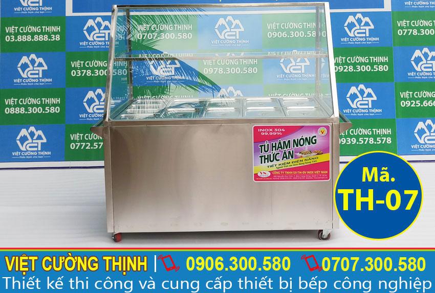 Tủ hâm nóng thức ăn, Quầy giữ nóng thức ăn 12 Khay Lớn Nhỏ TH-07.