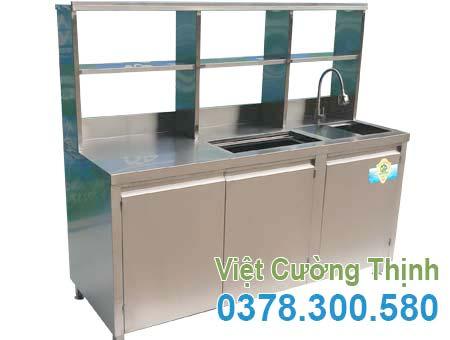 Quầy Pha Chế Trà Sữa Inox 1M6 QB-11