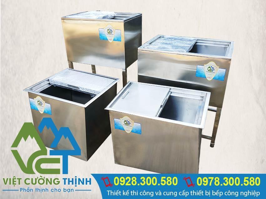 Kích thước thùng đá inox | Thùng chứa đá inox | Thùng đá inox quầy bar sản xuất Việt Cường Thịnh.