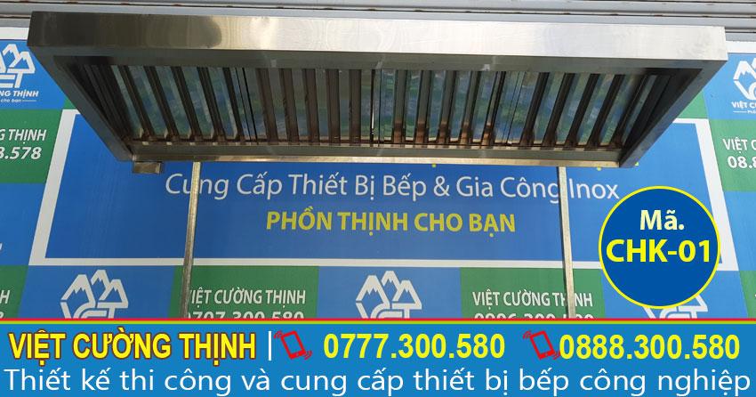 Chụp hút mùi bếp công nghiệp, chụp hút khói bếp nhà hàng, chụp hút mùi inox gia đình sản xuất Inox Việt Cường Thịnh.