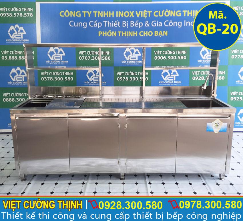 Quầy bar inox, quầy pha chế tra sữa, thiết bị mang lại hiệu quả trong kinh doanh, bền, đẹp và thẩm mỹ.