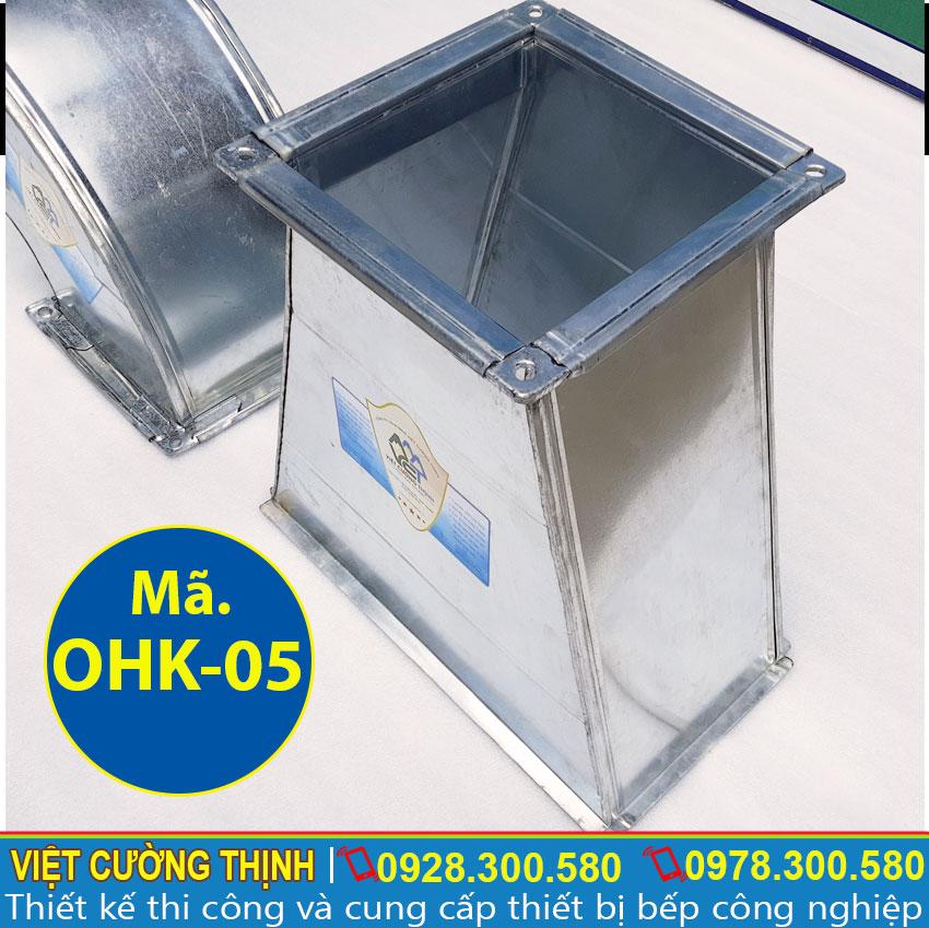 Giá chụp hút khói inox, co nối ống hút khói, ống nối máy hút mùi, tại Inox Việt Cường Thịnh.