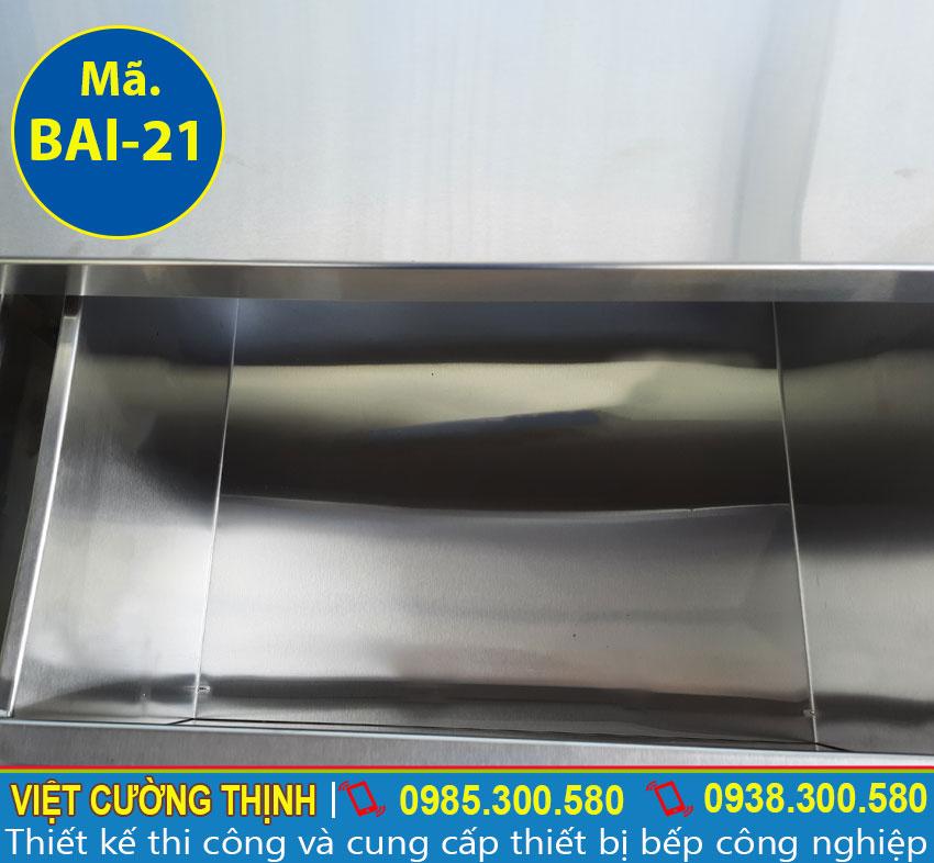 Cấu tạo bàn bếp inox 304 cao cấp và sáng bóng sản xuất tại Inox Việt Cường Thịnh.