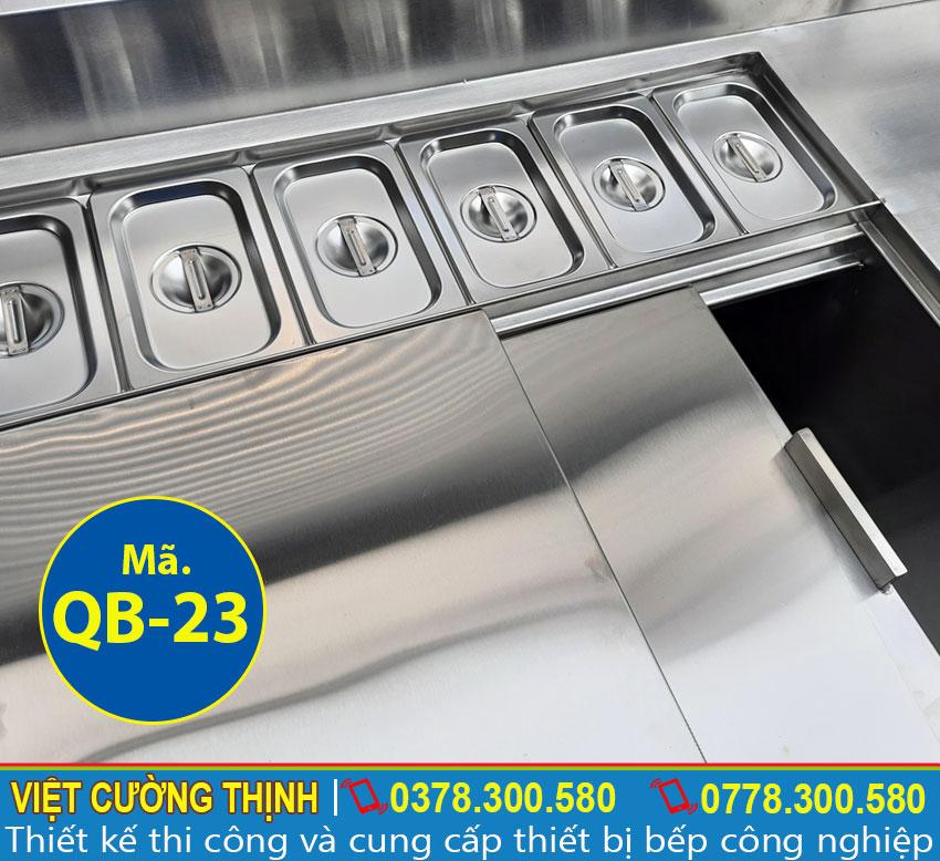 Khay giữ nhiệt giúp chứa nguyên liệu an toàn và đảm bảo chất lượng.