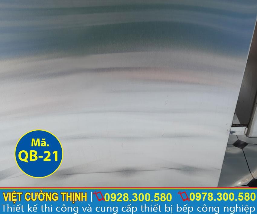 Inox 304 sáng bóng, tuổi thọ lâu dài, tiết kiệm chi phí bảo trì , thay thế.
