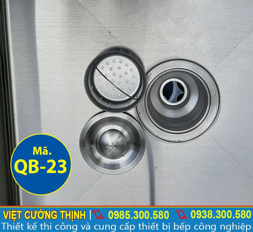 Xi phông thoát nước sản xuất inox chống bám dính và dễ dàng vệ sinh.