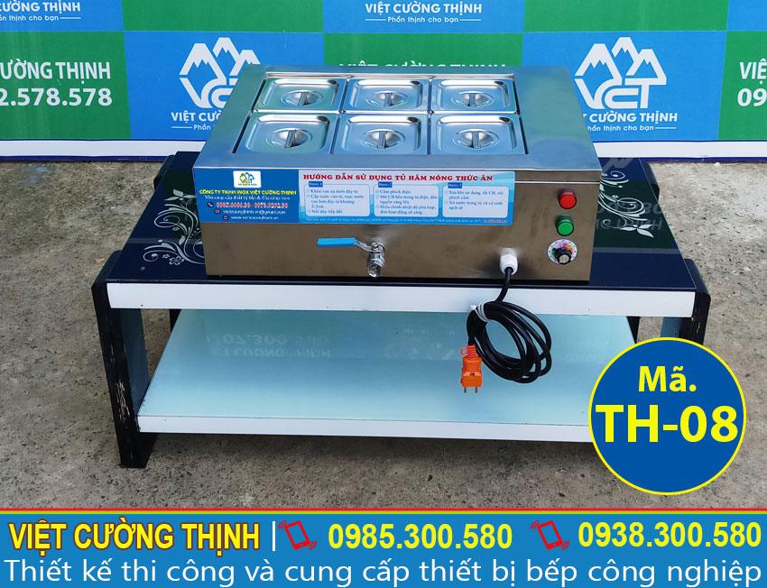 Tủ hâm nóng thức ăn, tủ giữ nóng thức ăn, tủ làm nóng thức ăn, tủ giữ nóng thức ăn mini sản xuất Inox Việt Cường Thịnh.
