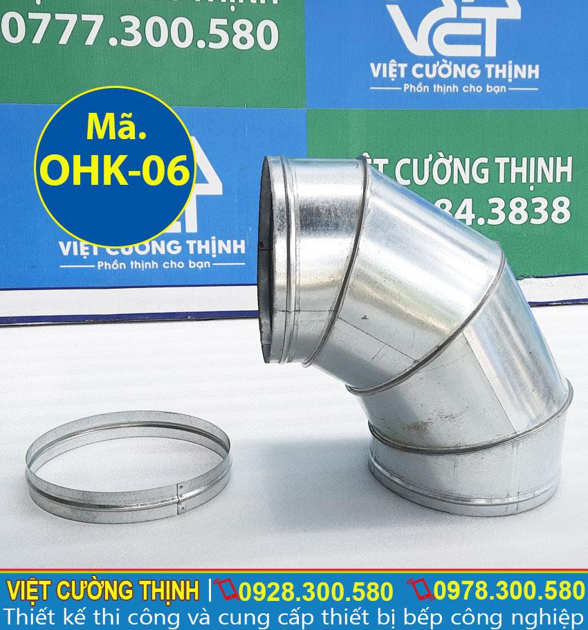 Co nối ống khói tròn, ống thoát khói, ống dẫn khói inox sản xuất Inox Việt Cường Thịnh.
