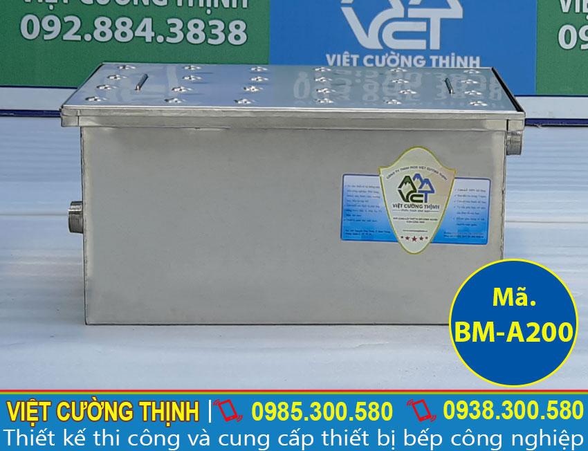 Bể tách mỡ inox, bẫy mỡ inox âm sàn, hộp lọc dầu mỡ inox 304 cao cấp và sang trọng sản xuất Inox Việt Cường Thịnh.