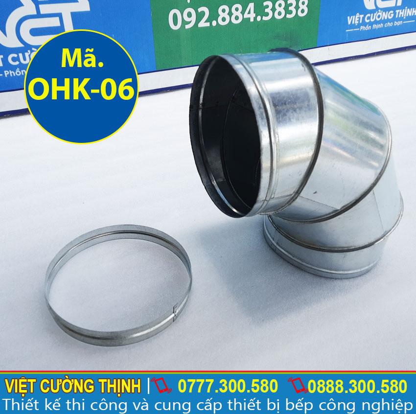 Co nối ống hút khói, ống dẫn khói sản xuất Inox Việt Cường Thịnh.