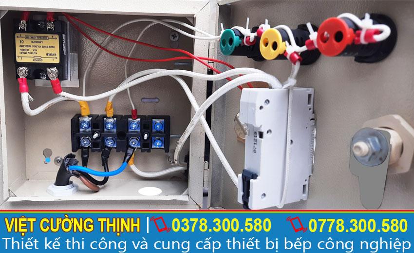 Hộp điện điều khiển thiết kế rời dễ dàng lắp đặt và sử dụng.