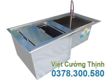Thùng đá inox quầy bar thiết kế cao cấp, sang trọng sản xuất Inox Việt Cường Thịnh.