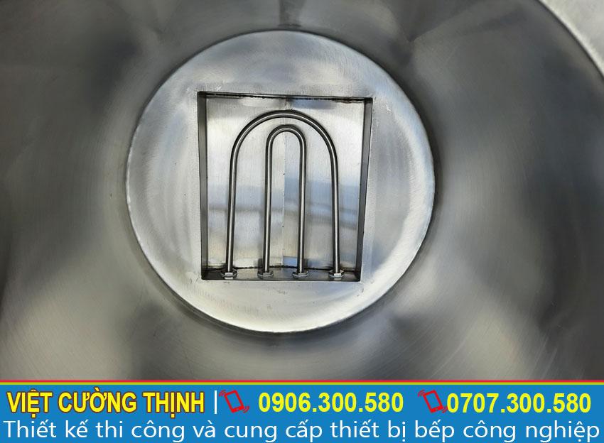 Thanh nhiệt hình chữ U giúp tải nhiệt nhanh và toả nhiệt đều.