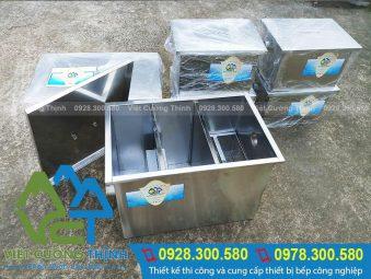 Bể tách mỡ sản xuất bằng inox 304 cao cấp, có độ bền cao và chịu nhiệt tốt