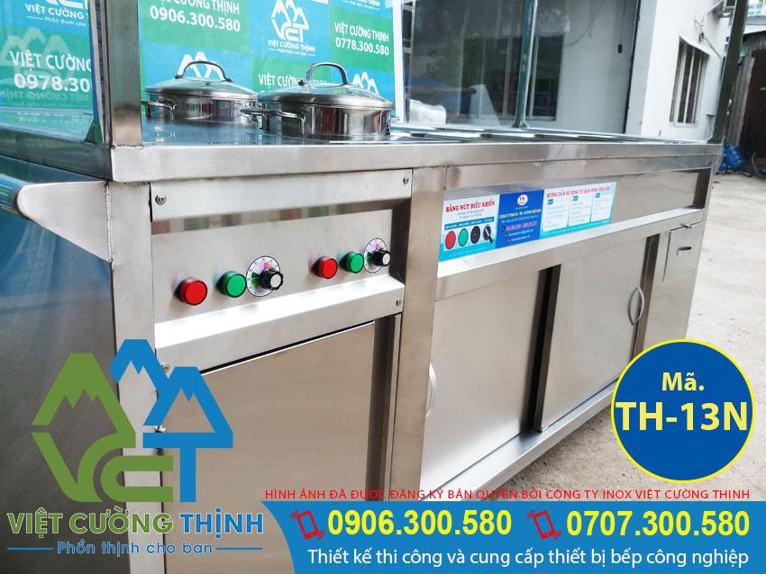 Nồi hâm nóng thức ăn, nồi giữ nóng thức ăn đa năng và tiện dụng sản xuất tại Inox Việt Cường Thịnh.