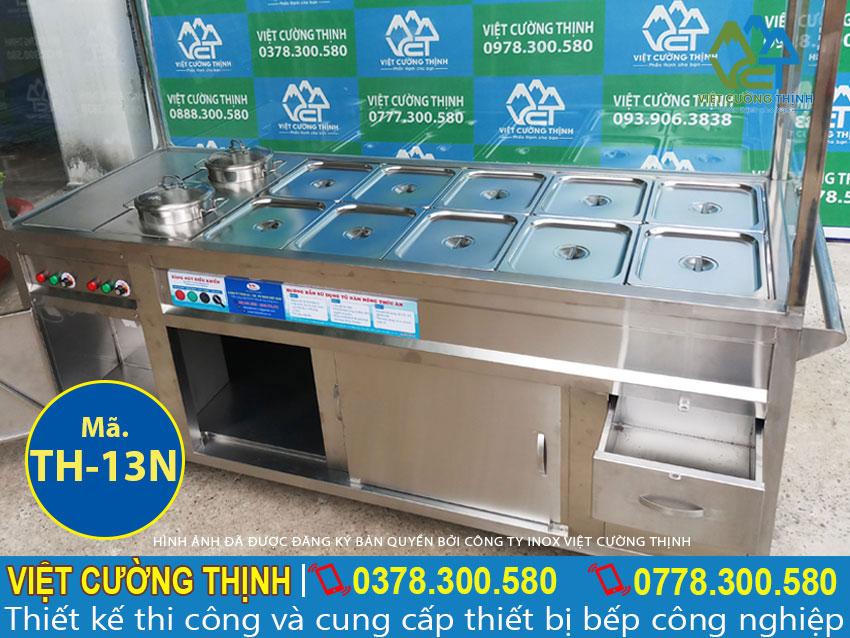 Tủ hâm nóng thức ăn, quầy giữ nóng thức sản xuất inox 304 cao cấp và sang trọng.