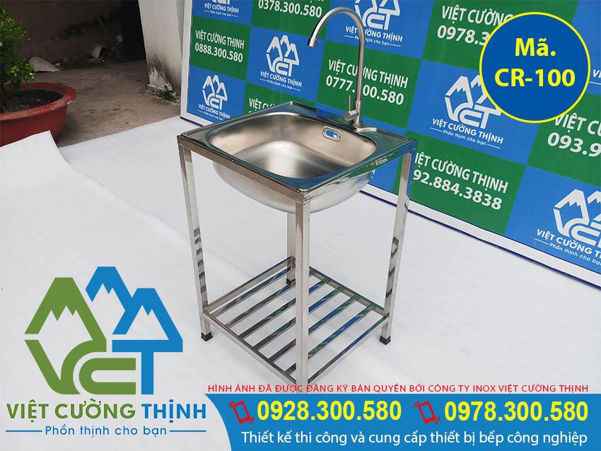 Bồn rửa gia đình 1 hộc, chậu rửa chén bát inox 1 hộc sản xuất Việt Cường Thịnh