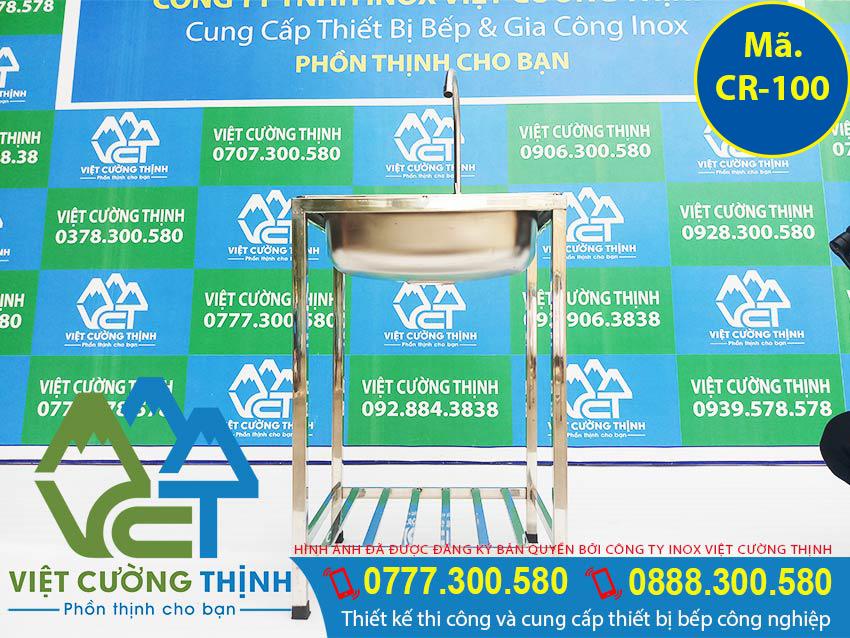 Bồn rửa chén đơn gia đình, chậu rửa inox gia đình 1 hố sản xuất Inox Việt Cường Thịnh.