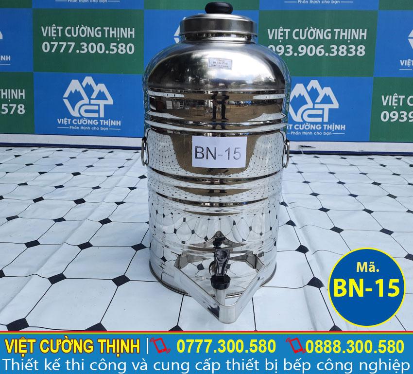 Bình đựng nước uống inox, bình đựng nước đá inox sản xuất Inox Việt Cường Thịnh.