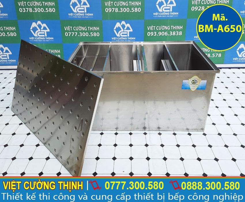 Bể tách mỡ công nghiệp thiết kế 4 ngăn đa năng và tiện dụng.