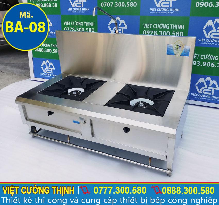 Bếp gas inox 2 họng thiết kế hiện đại, cao cấp và đa năng, tiện dụng
