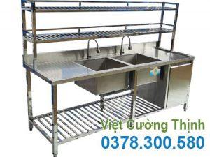 Bếp Việt Cường Thịnh là đơn vị cung cấp và phân phối chậu rửa inox có kệ trên, dưới và tủ.