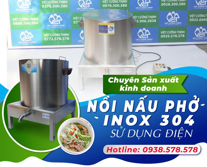 Nồi nấu phở bằng điện giúp tiết kiệm thời gian và công sức khi nấu nướng.