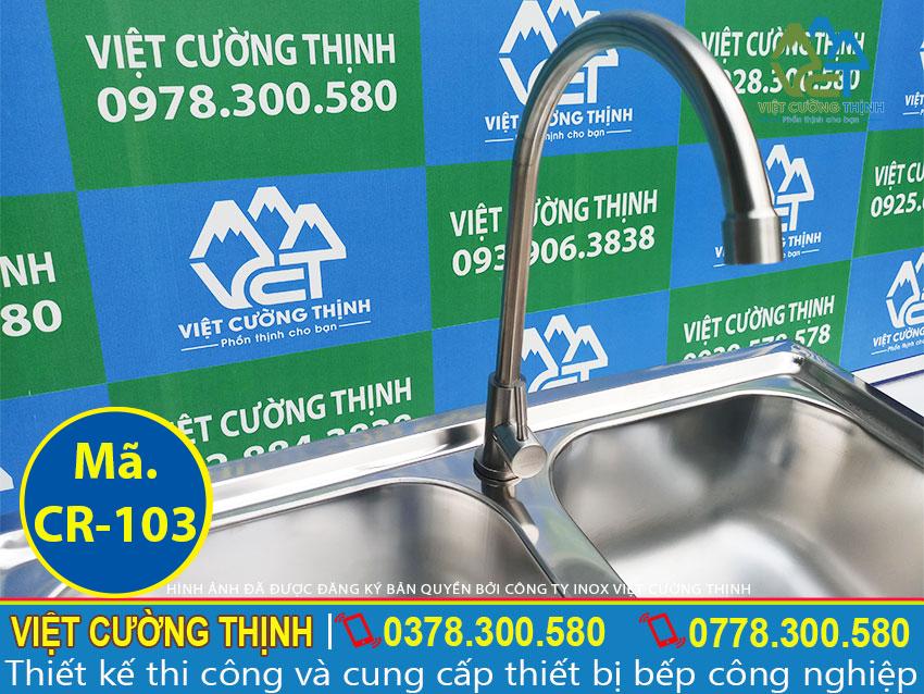 Bồn rửa thiết kế vòi xả nước cao cấp và tiện lợi, có thể điều chỉnh theo nhu cầu khách hàng.