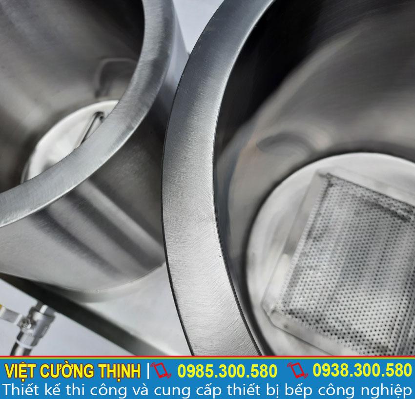 Bên trong của  Bộ nồi nấu hủ tiếu bằng điện | Bộ nồi nấu phở bằng điện |  Bộ nồi hầm xương nấu nước lèo bằng điện 20-60 lít.