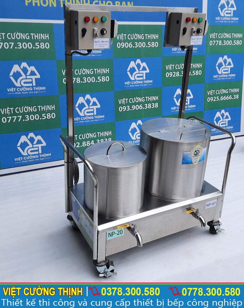 Bộ nồi nấu phở bằng điện |  Bộ nồi nấu hủ tiếu bằng điện | Bộ nồi hầm xương nấu nước lèo bằng điện 20-60 lít.