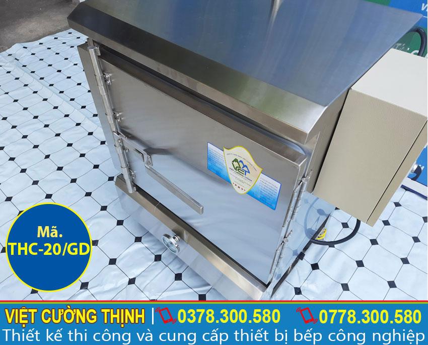 Tủ nấu cơm công nghiệp   Tủ hấp cơm công nghiệp   Tủ cơm công nghiệp 20 kg gas và điện.