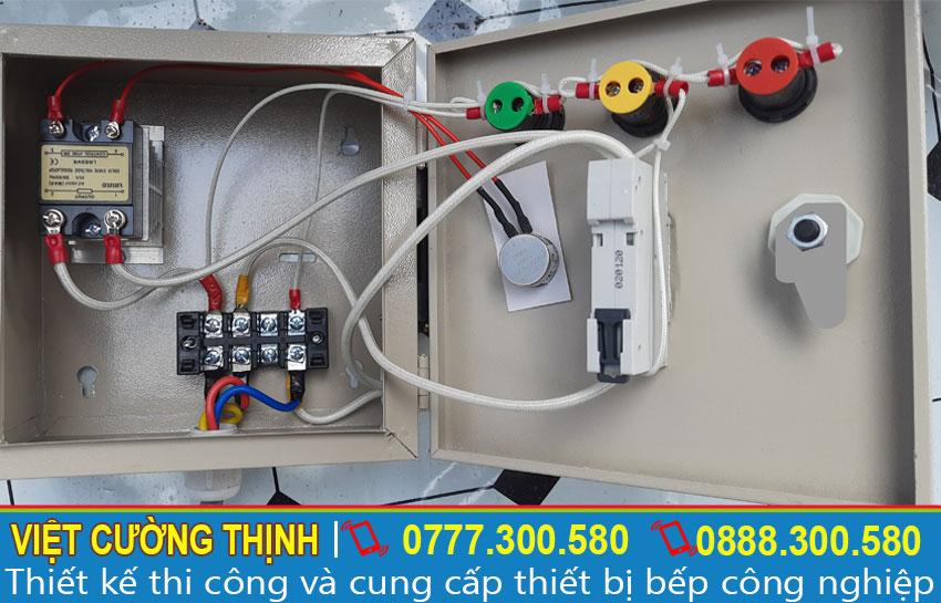 Hộp điện điều khiển trong nồi hấp bánh bèo bằng điện | Nồi hấp bánh bò bằng điện