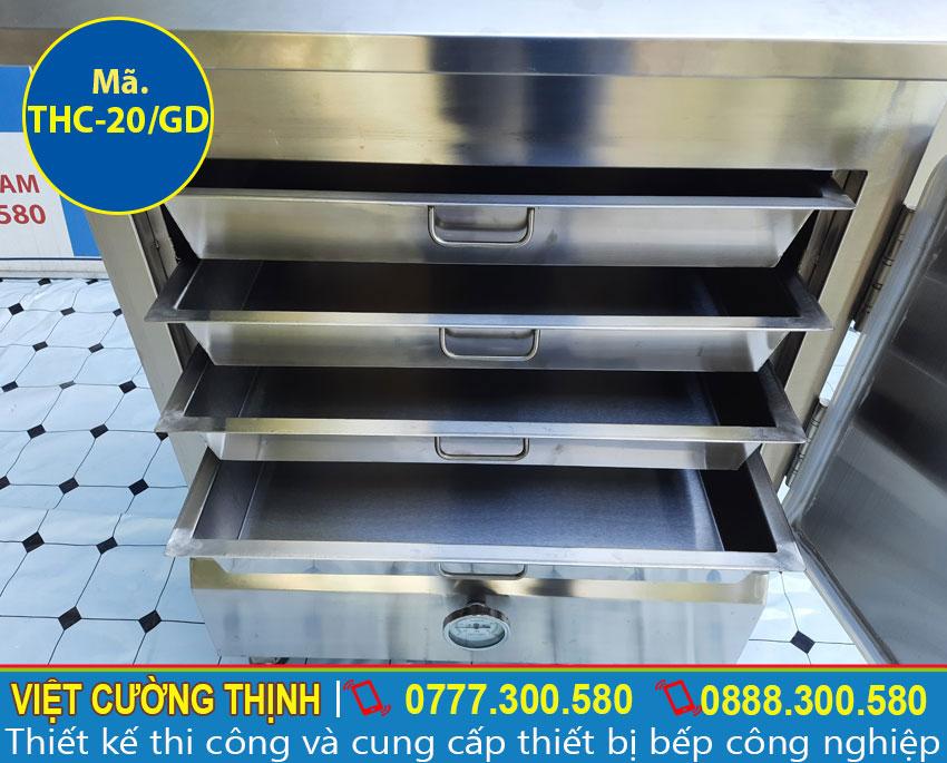 Khay tủ nấu cơm bằng điện và gas 20 kg, tủ cơm công nghiệp 20 kg gas và điện