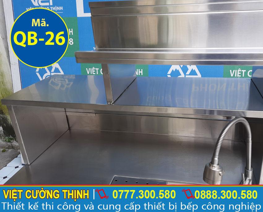 Vòi xả nước cao cấp về quầy inox, quầy inox trà sữa, mẫu quầy pha chế