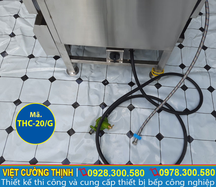 Hệ thống dây dẫn gas an tủ nấu cơm an toàn trong quá trình sử dụng.