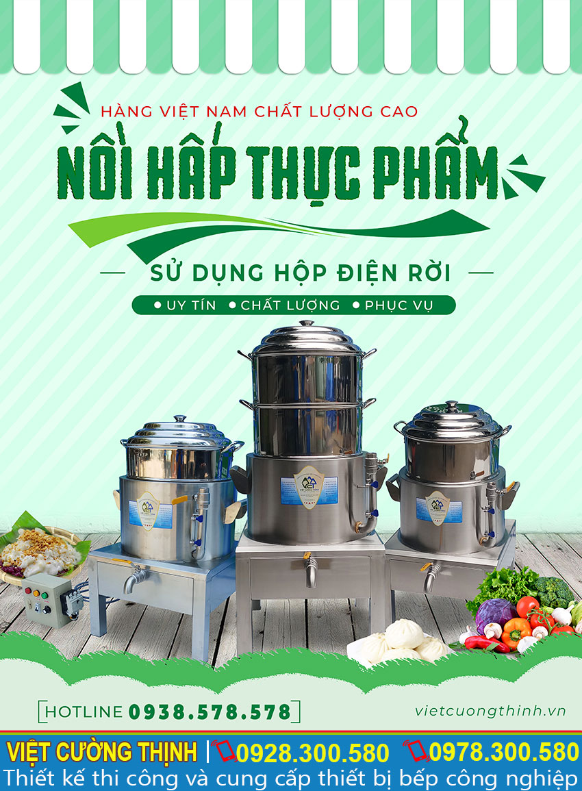 Báo giá nồi hấp điện công nghiệp, nồi hấp thực phẩm công nghiệp, nồi hấp cách thủy công nghiệp chất lượng giá tốt tại TPHCM.