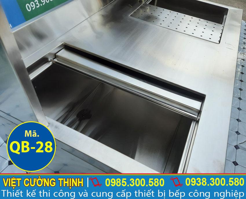 Thùng đá quầy pha chế cafe inox | quầy bar trà sữa inox | thiết bị quầy bar bằng inox 304 cao cấp.