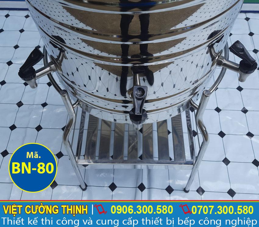 Vòi gạt của bình nước inox | Bình đựng trà đá inox | Thùng đựng nước trà đá inox 80 lít.