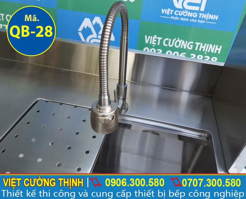 Vòi xả nước quầy pha chế cafe inox   quầy bar trà sữa inox   thiết bị quầy bar bằng inox 304 cao cấp.