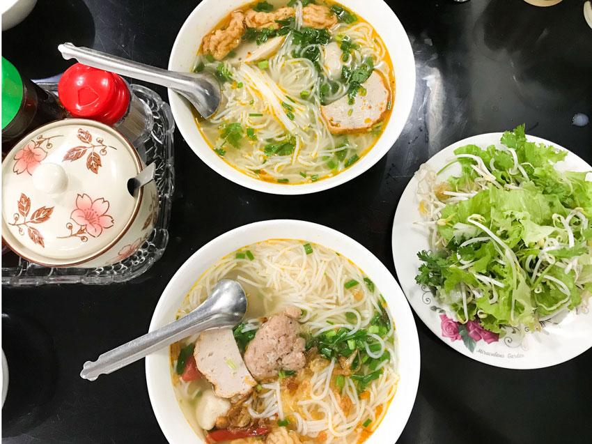 Bún chả cá - Đặc sản của thành phố Quy Nhơn tỉnh Bình Định