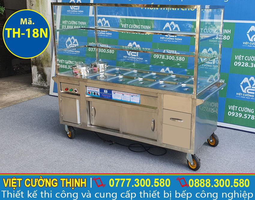 Tủ hâm nóng , tủ giữ nóng thức ăn làm bằng inox 304, có độ bền cao.
