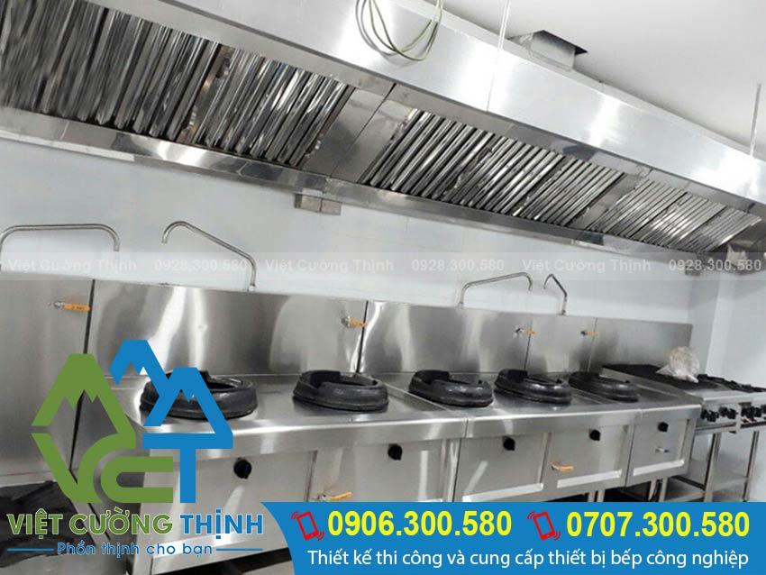 Inox Việt Cương Thịnh - Đơn vị thiết kế thi công bếp công nghiệp tại TPHCM.