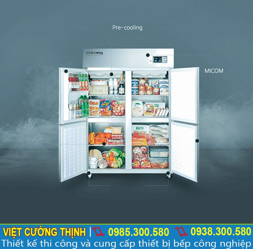 Thiết bị giữ lạnh thực phẩm 2 cửa sẵn có tại Inox Việt Cường Thịnh