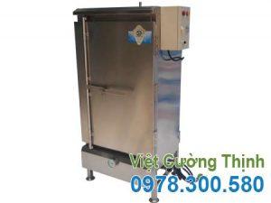 Mẫu tủ hấp bánh bao công nghiệp 10 khay sử dụng điện và gas sản xuất Inox Việt Cường Thịnh.