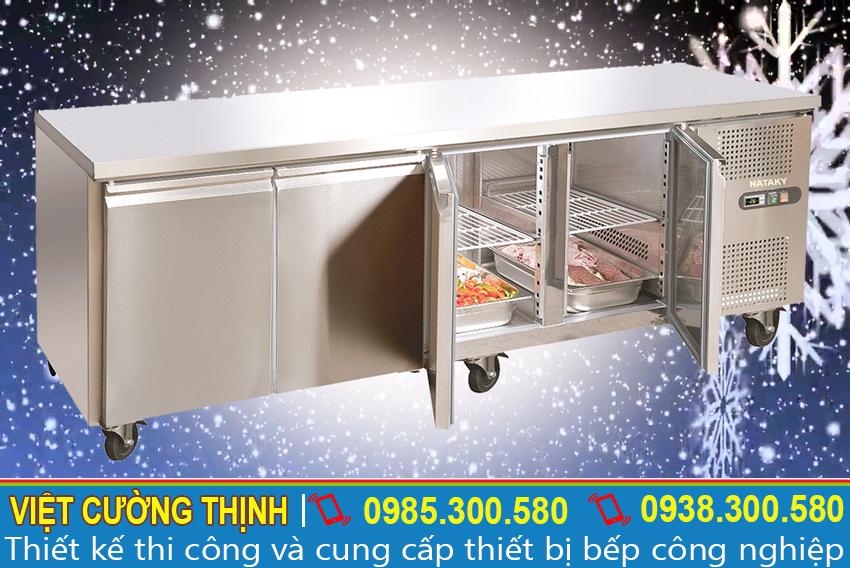 Bàn mát công nghiệp, bàn lạnh công nghiệp thiết kế an toàn và chắc chắn